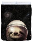 Space Sloth Duvet Cover by Eric Fan