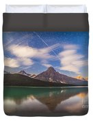 Space Station Passing West To East Duvet Cover