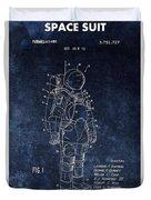 Space Suit Patent Illustration Duvet Cover