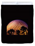 Spaceship Earth Shimmers Duvet Cover