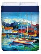 Spain Boats Duvet Cover