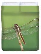 Spangled Skimmer Dragonfly Female Duvet Cover