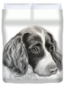 Spaniel Drawing Duvet Cover