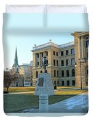 Spanish American War Memorial At Lucas County Courthouse 0098 Duvet Cover