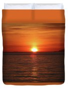 Spanish Banks Sunset - Digital Oil Duvet Cover