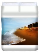 Spanish Beach Chalets Duvet Cover