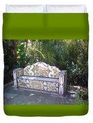 Spanish Bench Duvet Cover