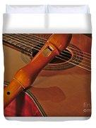 Spanish Guitar And Flute Duvet Cover