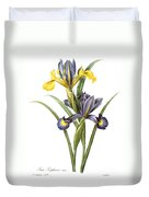 Spanish Iris Duvet Cover
