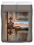 Spanish Mission Door Handle Duvet Cover by Jill Battaglia