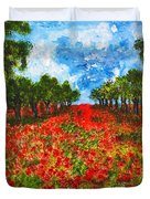 Spanish Poppies Duvet Cover