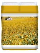 Spanish Sunflowers Duvet Cover