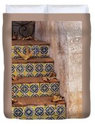 Spanish Tile Stair  Duvet Cover
