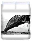 Spanning Sydney Harbour - Black And White Duvet Cover