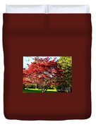 Sparkling Japaneese Maple Tree Duvet Cover