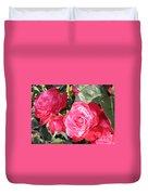 Sparkling Roses Duvet Cover by Carol Groenen