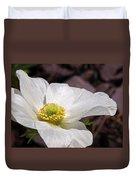 Sparkling White Anemone Duvet Cover