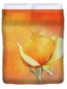 Sparkly Peach Rose Duvet Cover