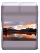 Sparks Lake Sunrise Duvet Cover