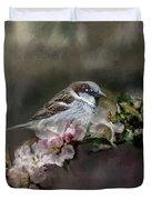 Sparrow In The Garden Duvet Cover
