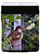 Sparrow In The Shrubs Duvet Cover