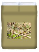 Sparrow In The Thorns Duvet Cover