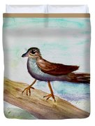 Sparrow On A Branch Duvet Cover