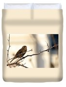 Sparrow On A Limb Duvet Cover