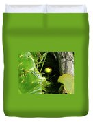 Spatterdock - Wild Yellow Water Lily Duvet Cover