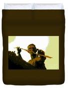 Spearfishing Man Duvet Cover