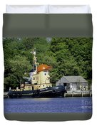 Special Seaport Visitor Duvet Cover