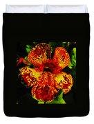 Speckled Petunia Duvet Cover