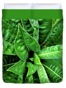 Spectacular Green Foliage Duvet Cover