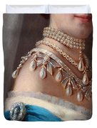 Historical Fashion, Royal Jewels On Empress Of Russia, Detail Duvet Cover