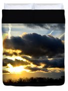 Spectacular Sunrise In Clouds Duvet Cover