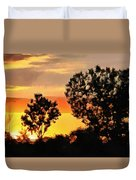 Spectacular Sunset In The Midwest Duvet Cover