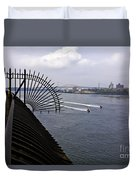 Speed Boats On The East River Duvet Cover