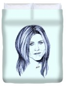 Speed Drawing Of Jennifer Aniston  Duvet Cover