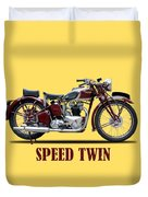Speed Twin 1939 Duvet Cover