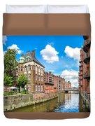 Speicherstadt Warehouse District In Hamburg Duvet Cover