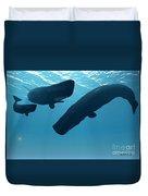 Sperm Whale Encounter Duvet Cover