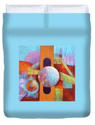 Spheres And Beams Duvet Cover