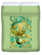 Spheres Of Life's Changes Duvet Cover