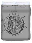 Spherical Satellite Structure Patent 1957 Duvet Cover
