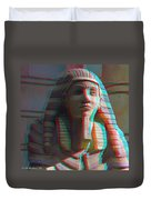 Sphinx - Use Red-cyan 3d Glasses Duvet Cover