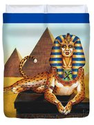 Sphinx On Plinth Duvet Cover
