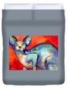 Sphynx Cat 6 Painting Duvet Cover