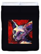 Sphynx Sphinx Cat Painting  Duvet Cover