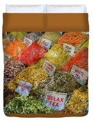 Spice Market In Istanbul Duvet Cover