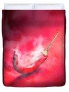 Spicy Food Art Duvet Cover